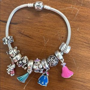 Disney Pandora Bracelet & Disney Pandora Wristlet